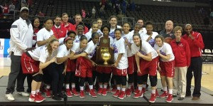 Butler celebrates its fifth state championship.