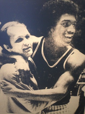 The Courier-Journal captured this reaction of Shelby County Coach Tom Creamer and Charles Hurt after the Rockets beat undefeated Apollo in the first round  of the 1978 Sweet Sixteen.