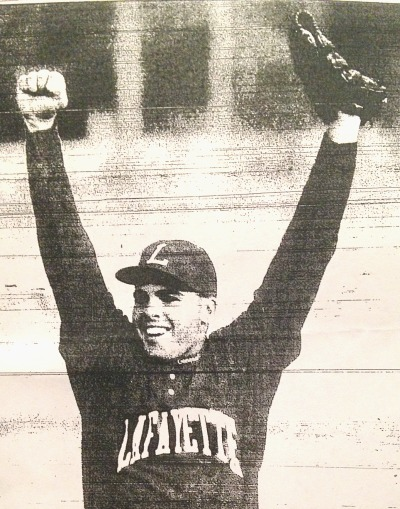 Curtis Whitney's reaction after his no-hitter against Lexington Catholic in the 1992 region finals as captured by the Herald-Leader.