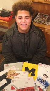 Jedrick Wills has several shoeboxes stuffed with letters from all the major football powers.